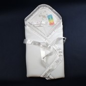Демисезонный Конверт-одеяло на выписку из роддома и для крещения Anikababy