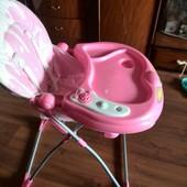 Детский стульчик для кормления розовый