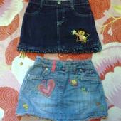 модные джинсовые юбки 2-4 года