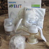 Механический молокоотсос Avent + подарок