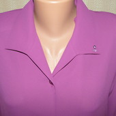 Шикарная блуза цвета фуксия, большой размер (ПОГ 55)
