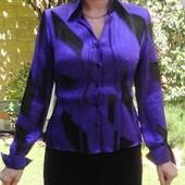 Фиолетовая блузка с манжетами