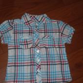 Рубашка на девочку тонкий хлопок на 2года новая