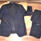 48-50р(рост 175см) Темно-синий плотный костюм Loranzo
