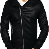 Мужская демисезонная куртка косуха из эко-кожи
