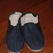 Легкие тапки с плетеной подошвой