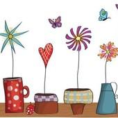 Интерьерная наклейка на стену в детскую Цветы