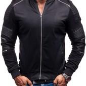 модная еко-кожаная мужская куртка