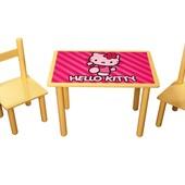 Столик со стульчиками Китти.Распродажа!