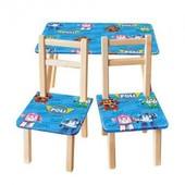 Столик со стульчиками Робокар Поли.Распродажа!