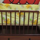 Комплект 4 в 1 постельного белья в детскую кроватку (без балдахина)