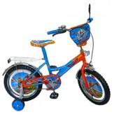 Велосипед 2-х колесный 12'' 141202 со звонком, зеркалом, с вставками в колесах
