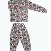 Пижама с набивкой для девочек и мальчиковна рост 104-146см