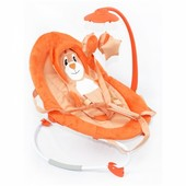 Шезлонг-качалка Baby Tilly bt-bb-0002 Orange, оранжевый