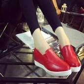 Стильные туфли слипоны на платформе.Весна 2017.Новая коллекция