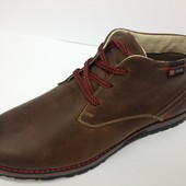 зимние мужские ботинки кожа цвета Код: Diesel