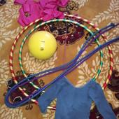 мяч Sasaki, лента Sasaki, палочка для ленты Sasaki, купальник, обруч, полупальцы