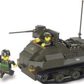 Конструктор для мальчиков Армия-Бронетранспортёр, 186 дет., фигурки, лего-подобный, арт. M38-B0281