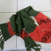 класний теплий вязаний шарф ДоОвгий