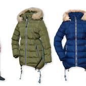 Зимняя куртка для девочик 134-158см