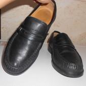 Туфли лоферы натуральная кожа р. 40 26см