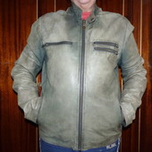 Недорого!!! Чоловіча шкіряна фірмова куртка р.L