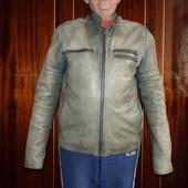 Чоловіча шкіряна фірмова куртка р.L
