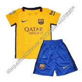 Детская футбольная форма Барселоны 2015-2016 Nike выездная (1583)