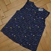 1 - 2 года 92 см Обалденная фирменная натуральная футболка девочке Некст Next с яблоками