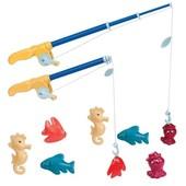 Игровой набор - магнитная рыбалка делюкс (2 удочки, 8 морских животных)