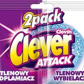 Clever Attack duopack пятновыводитель 30 г + отбеливатель 30 г (саше)