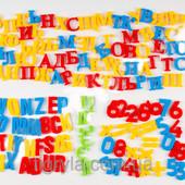 Набор магнитных букв-цифр 3 языка