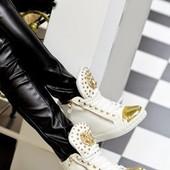 Ботиночки сникерсы белые Лев Д370 р.38,40