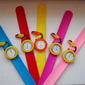 Детские часы на гибком силиконовом