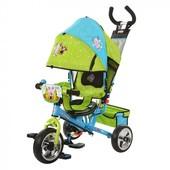 Лунтик  LT 0066-01 велосипед детский трехколесный колеса пена