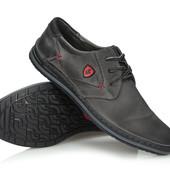Удобные мужские туфли из натуральной кожи,Польша