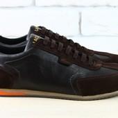 Спортивные туфли коричн. Lacoste, р. 40-45 натур замша, кожа, nvk-2456, супер цена!