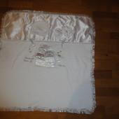 Шикарный комплект на выписку одеялко шапочка и пинетки для мальчика или девочки (одеяло, шапка)