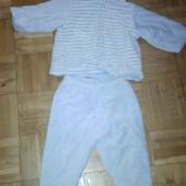 Детский теплый костюм на зиму. Хлопок с начесом. Размер 80 86 на 12 18мес.
