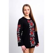 Великолепная черная вышитая блуза для женщин (МР-1101/1)
