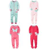Хб пижамки, слипы Carters для девочек 72-86 см