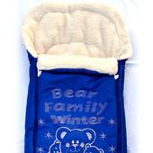 Детский теплый конверт на овчине в коляску,санки