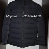Дутая зимняя куртка без капюшона,красная, синяя и черная