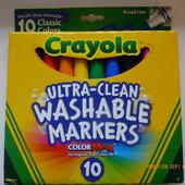 Crayola 10 смывающиеся маркеры