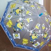 Зонтики с ярким рисунком, матовые, 3-10 лет