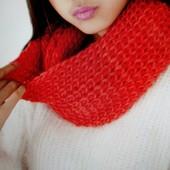 Яркий шарф снуд (хомут), 3 цвета, новый