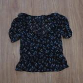 Гламурная блуза H&M с запахом, размер 6, состояние новой вещи.