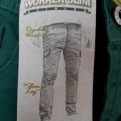Красивые зеленые мужские джинсы C&A р. 28