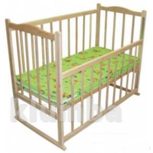 Эко-кроватка детская -колесики и люлька, без лака. фото №1