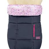 Зимний чехол на овчине Trend, Серый с розовым декороми (ДоРечі)
